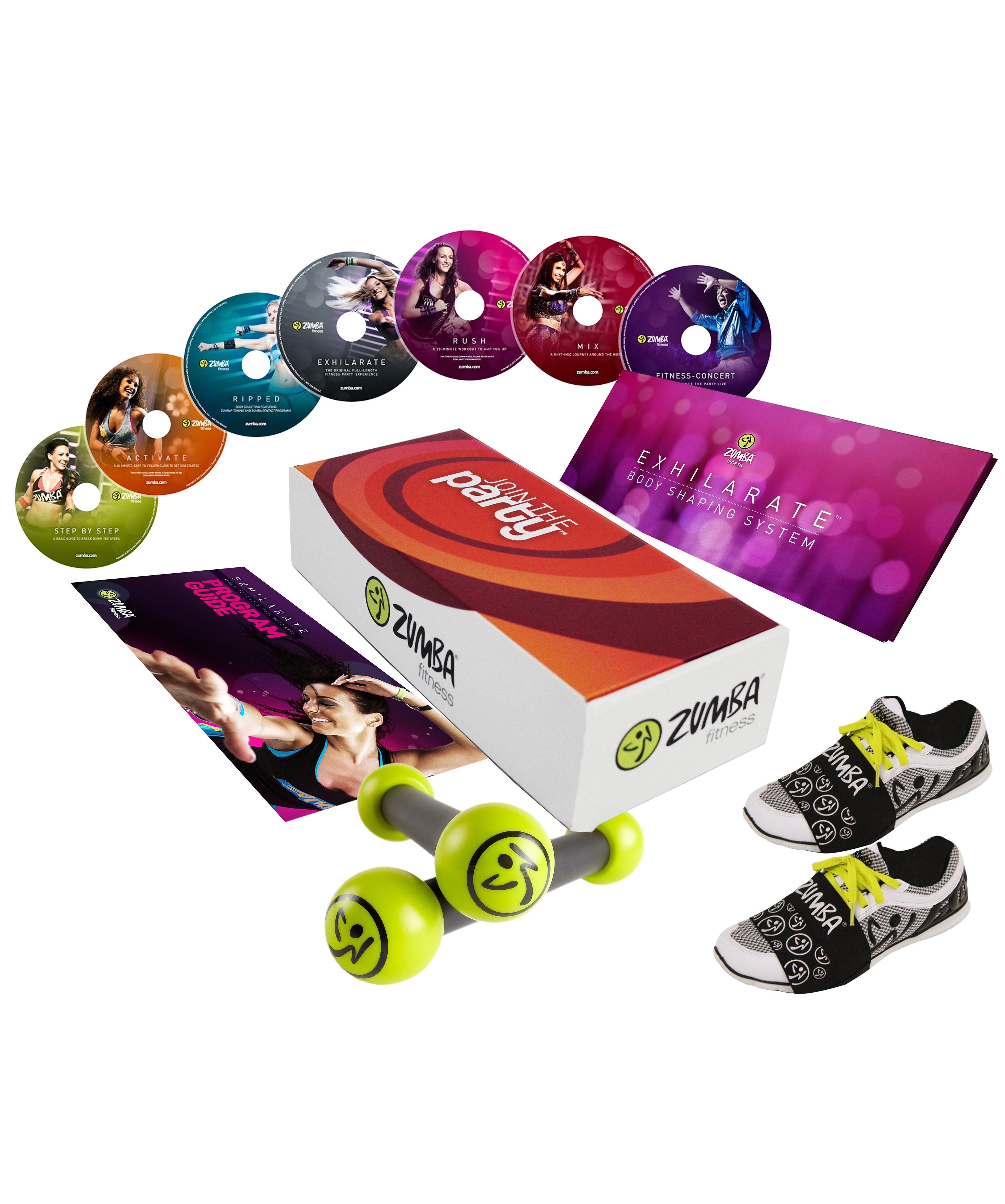 Zumba® Fitness Zumba® Join the Party Set, 12teilig mit Carpet Gliders