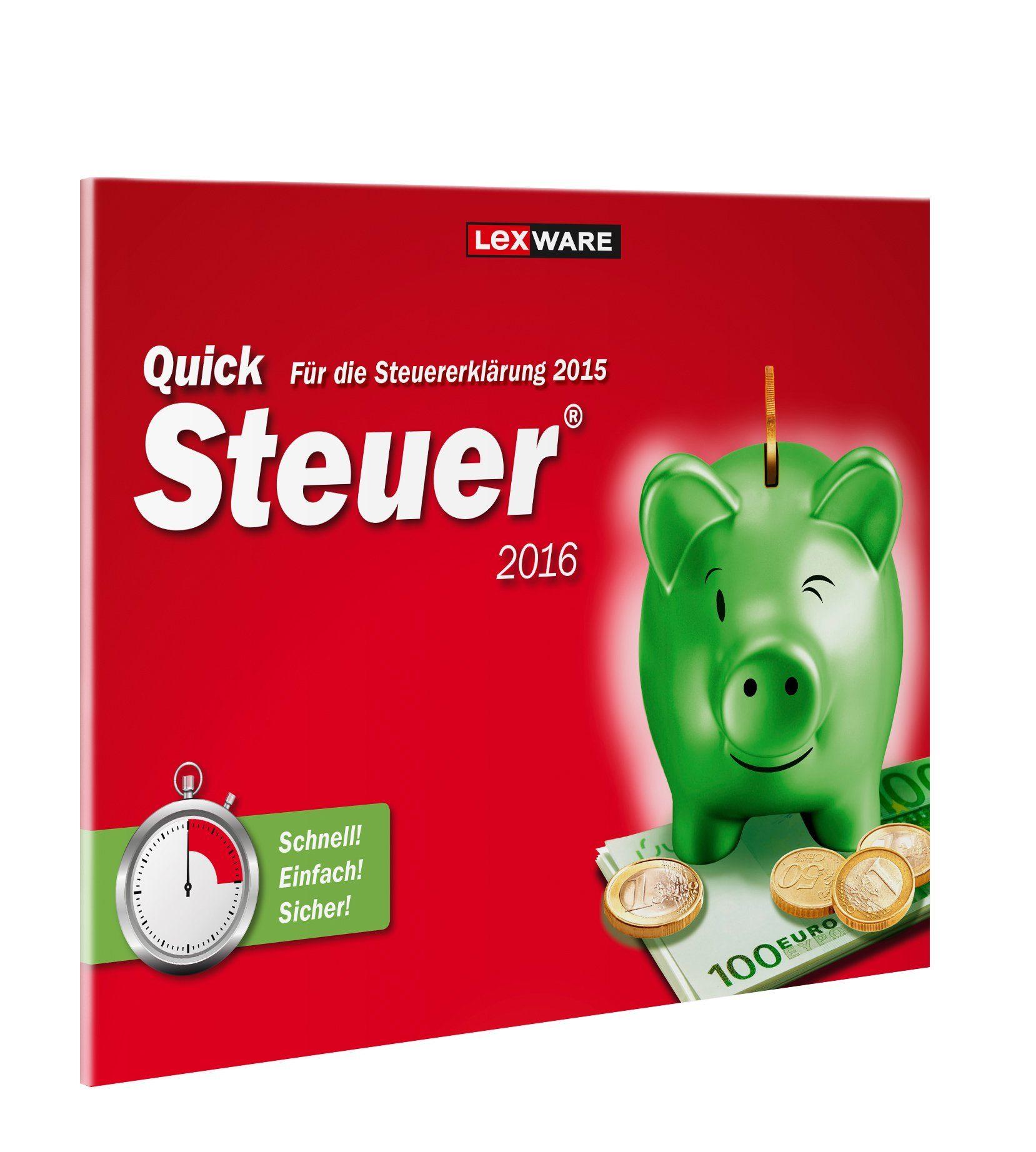 Lexware Finanzen/Steuer »Quicksteuer 2016 Frustfreie Verpackung«