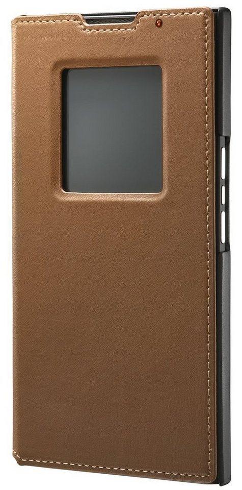 BlackBerry Handytasche »Flip Cover Leder für Priv« in Cognac