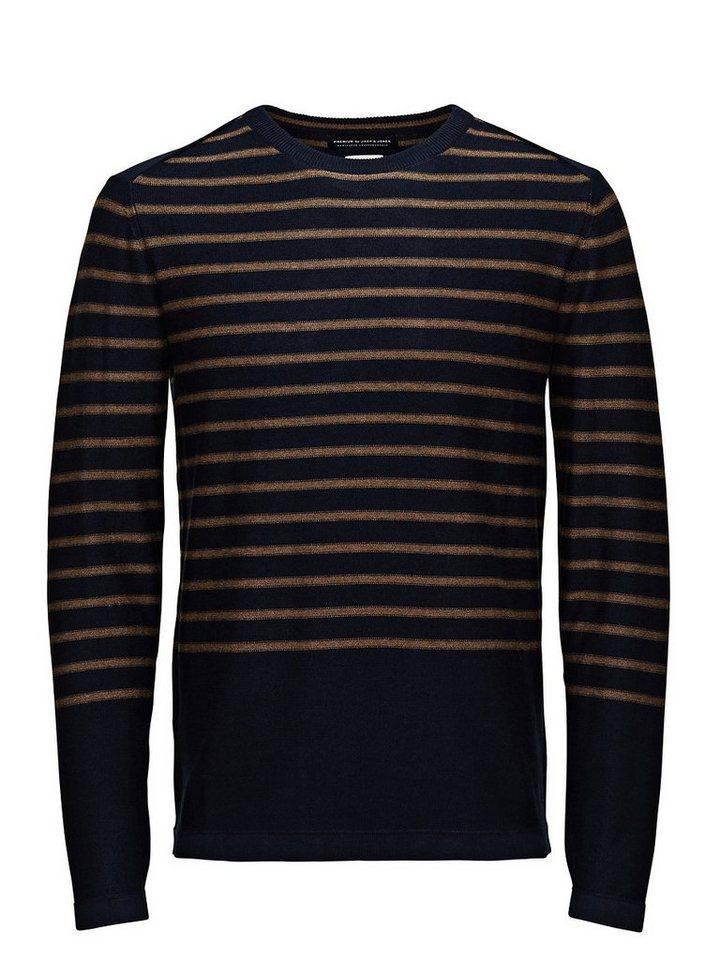 Jack & Jones Klassisch gestreifter Pullover in Navy Blazer