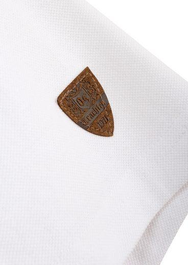 OS-Trachten Trachten-Poloshirt Herren mit Stickelementen