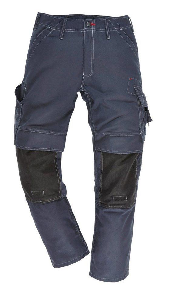 Arbeitshose mit Knietaschen in blau/schwarz