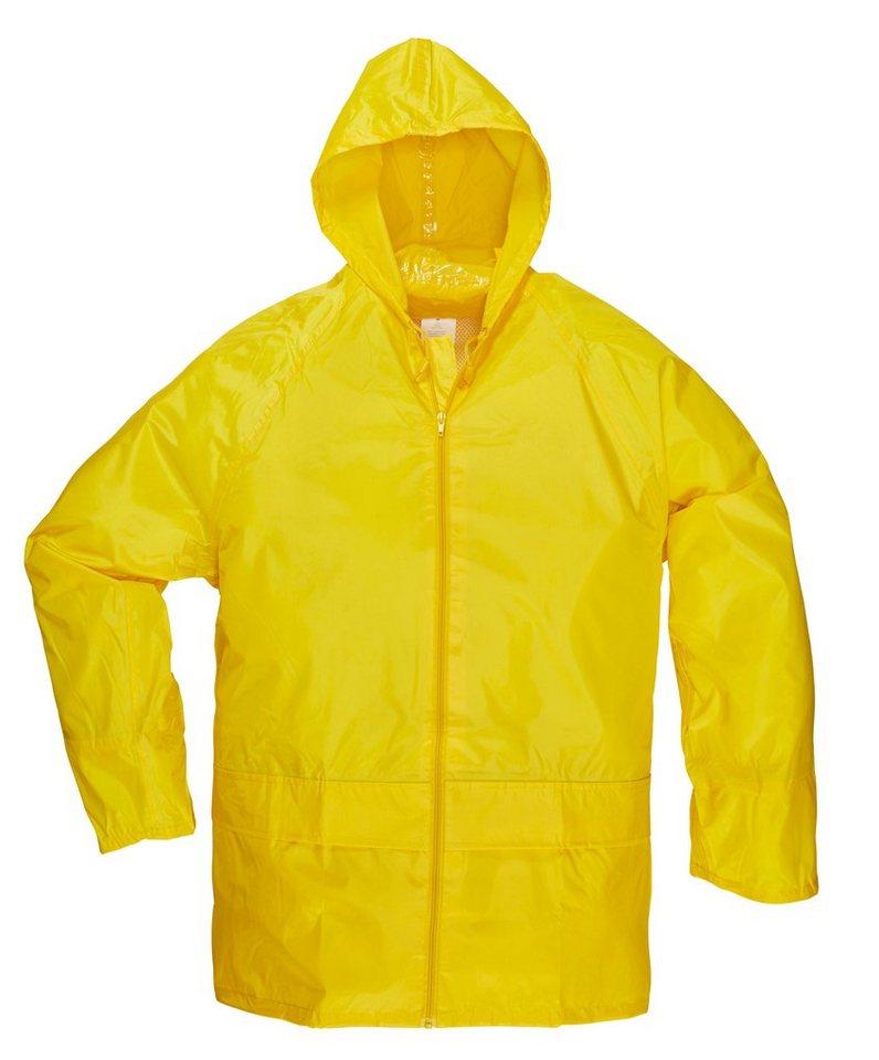 Regenjacke in gelb