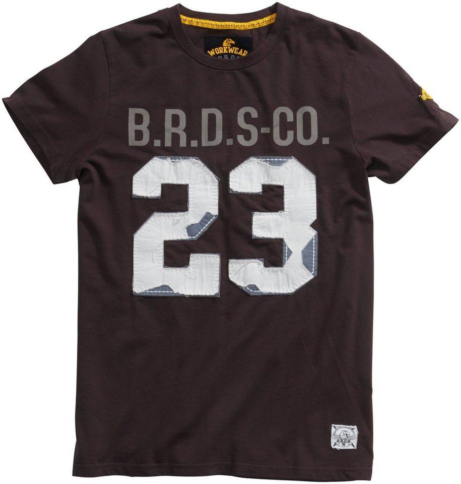 B.R.D.S. Workwear T-Shirt »Greenline« in schwarz