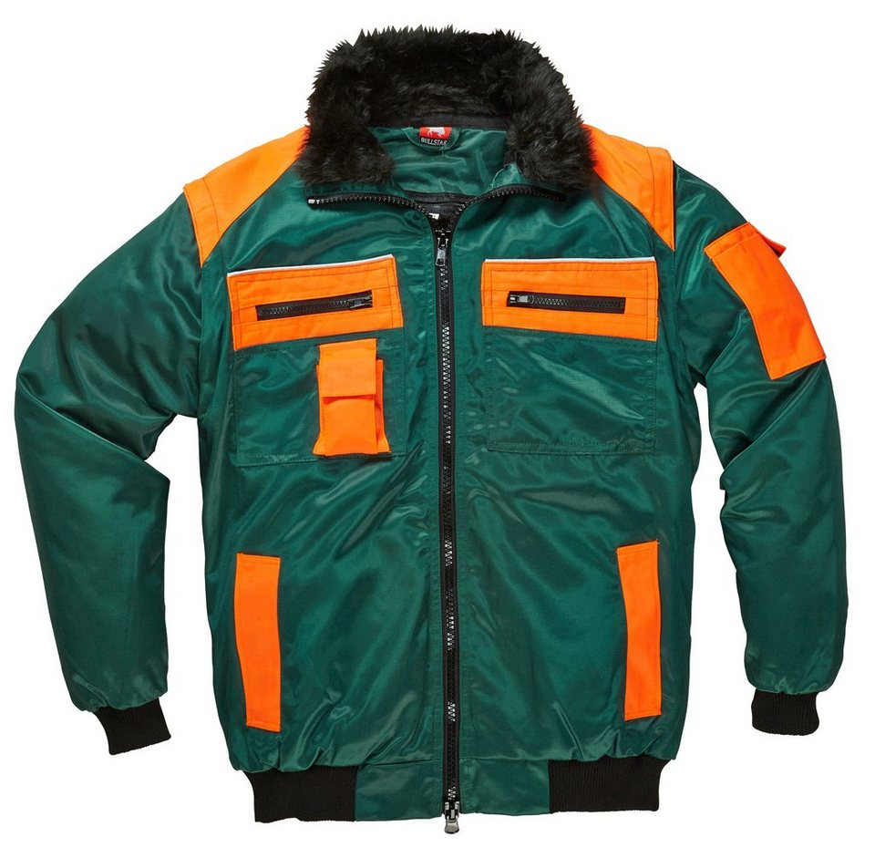 Pilotenjacke in grün/orange