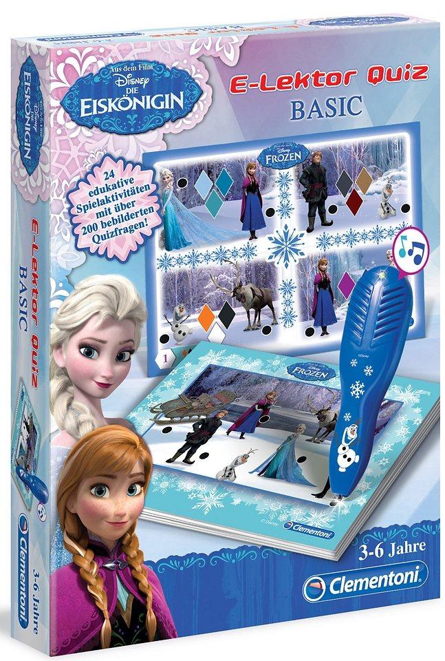 Clementoni Lernspiel, »E-Lektor Quiz Basic Frozen, Disney - Die Eiskönigin«