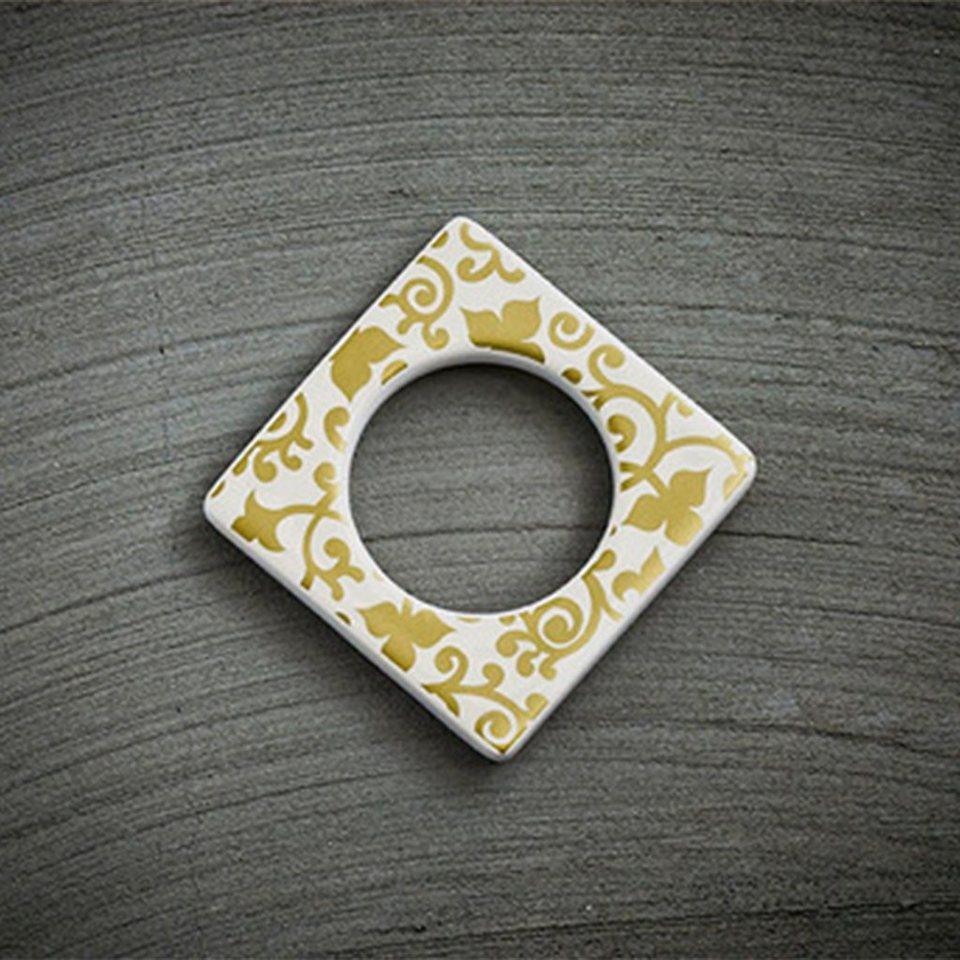CULTDESIGN Cult Design Manschette für Teelichthalter Blumenwechsel gold in weiss gold