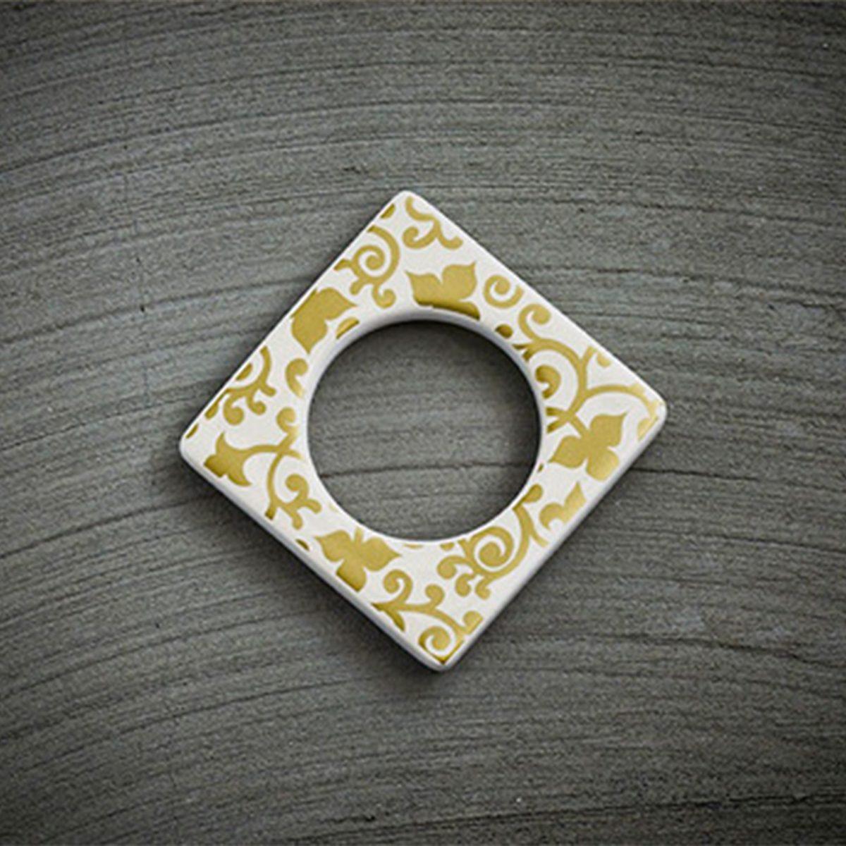 CULTDESIGN Cult Design Manschette für Teelichthalter Blumenwechsel gold