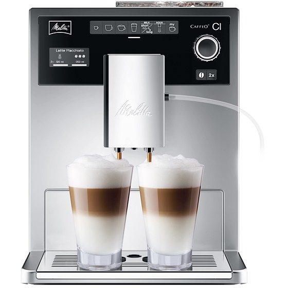 Melitta Kaffeevollautomat Caffeo® CI® E 970-306, 1,8l Tank, Scheibenmahlwerk, mit Zweikammer-Bohnenbehälter