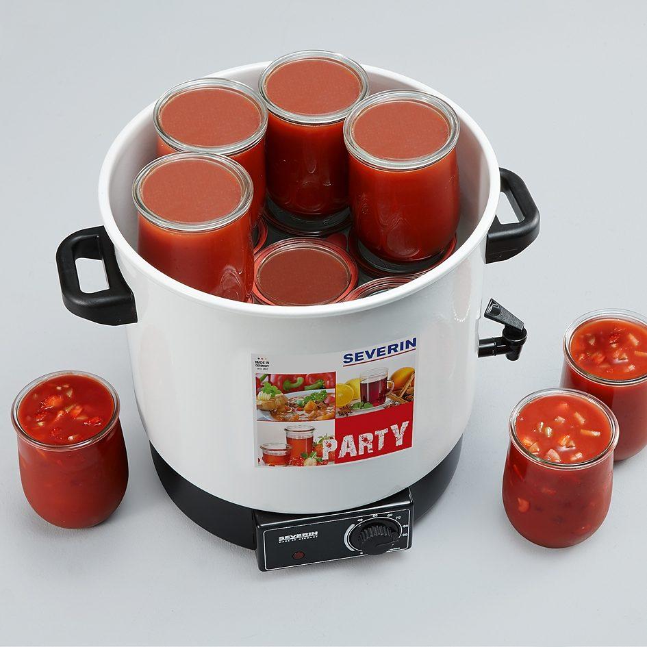 Severin 3-in-1-Kombi-Einkochautomat EA 3653, 1800 W, Glühweinautomat, Punschautomat, Einkochautomat in einem Gerät