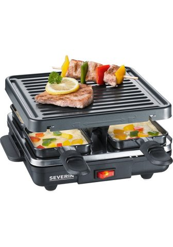 SEVERIN Raclette RG 2686 4 Raclettepfännc...