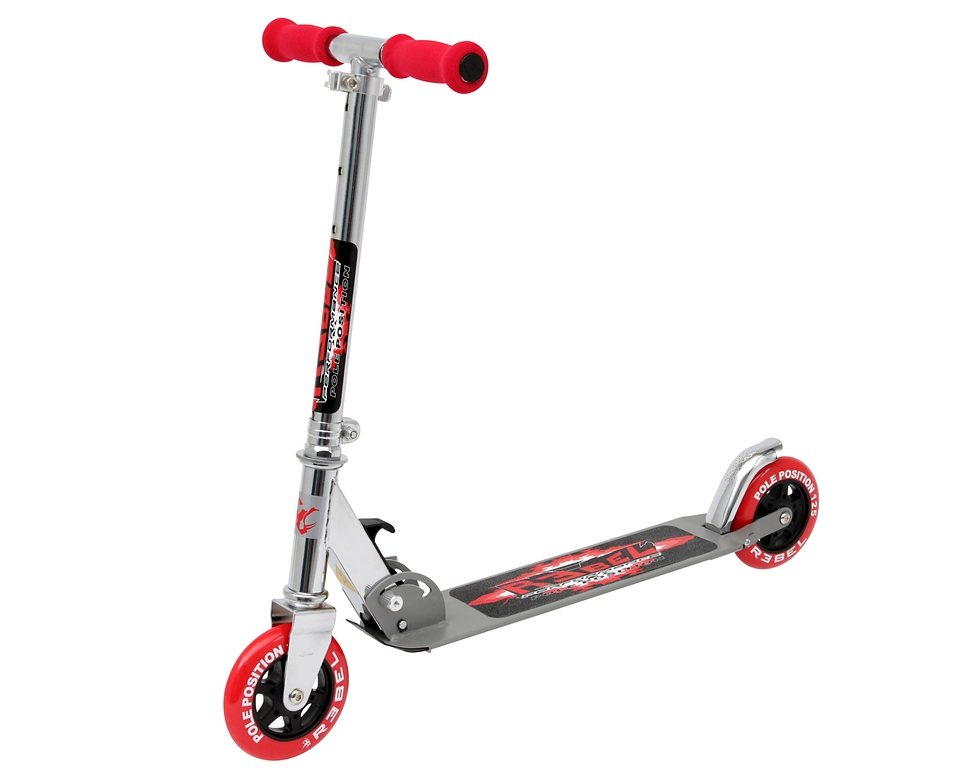 Rebel Scooter, »Pole Position« in silber-rot