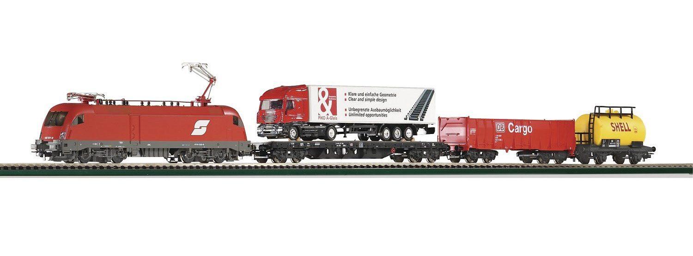 PIKO Modelleisenbahn Startpaket, »Start-Set E-Lok Taurus + 3 Wagen, ÖBB - Gleichstrom« Spur H0 - broschei