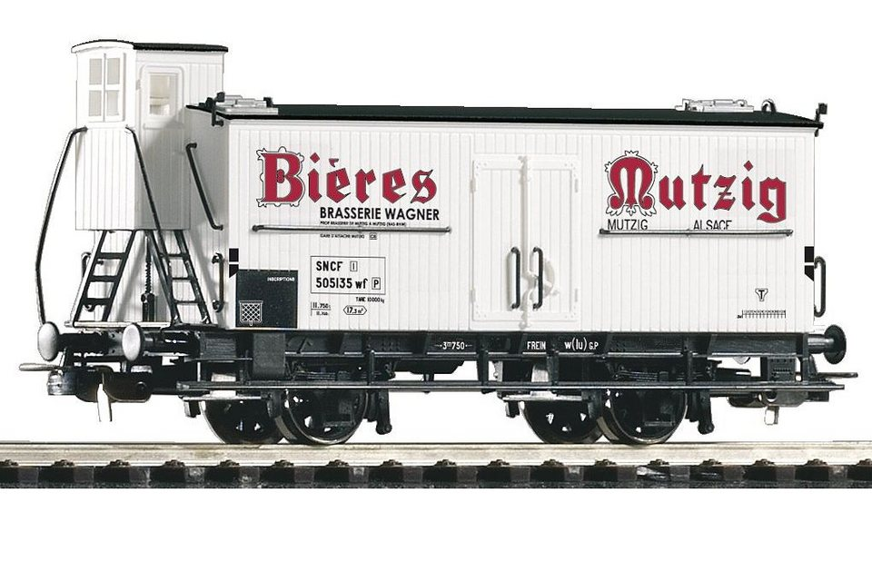 PIKO Güterwagen, »Bierwagen Mutzig, SNCF - Gleichstrom« Spur H0 in weiß