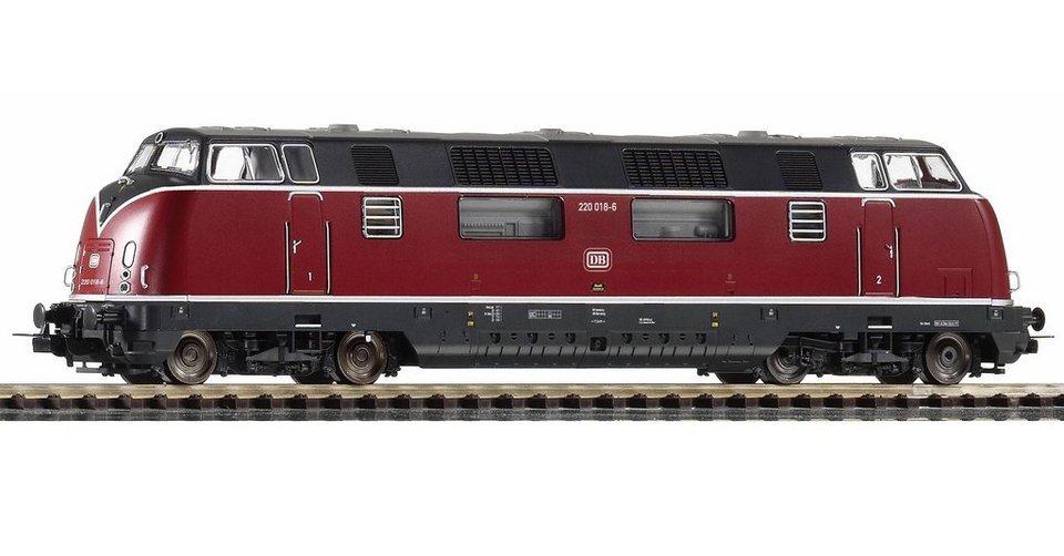 PIKO Diesellok, »Diesellokomotive BR 220.0, DB - Wechselstrom« Spur H0 in rot