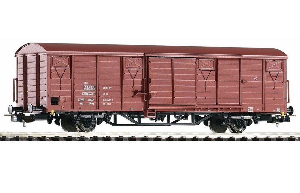 PIKO Güterwagen, »Gedeckter Güterwagen Gbs 1500, DR - Gleichstrom« Spur H0 in braun