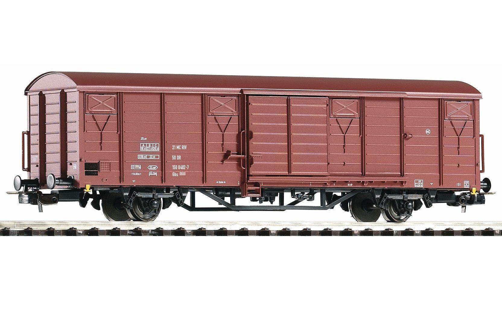 PIKO Güterwagen, »Gedeckter Güterwagen Gbs 1500, DR - Gleichstrom« Spur H0