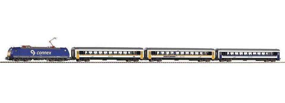 PIKO Modelleisenbahn Startpaket, »Start-Set Connex BR185 + 3 Personenwagen - Gleichstrom« Spur H0