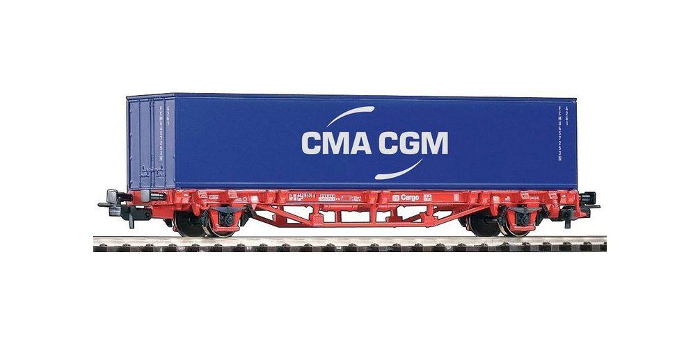 PIKO Güterwagen, »Containerwagen CMA CGM, DB AG - Gleichstrom« Spur H0