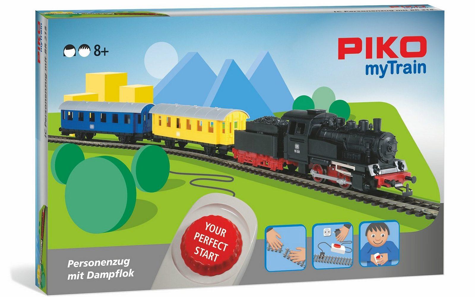 PIKO Modelleisenbahn Startset, »PIKO myTrain Set, Personenzug + Dampflok - Gleichstrom« Spur H0 - broschei