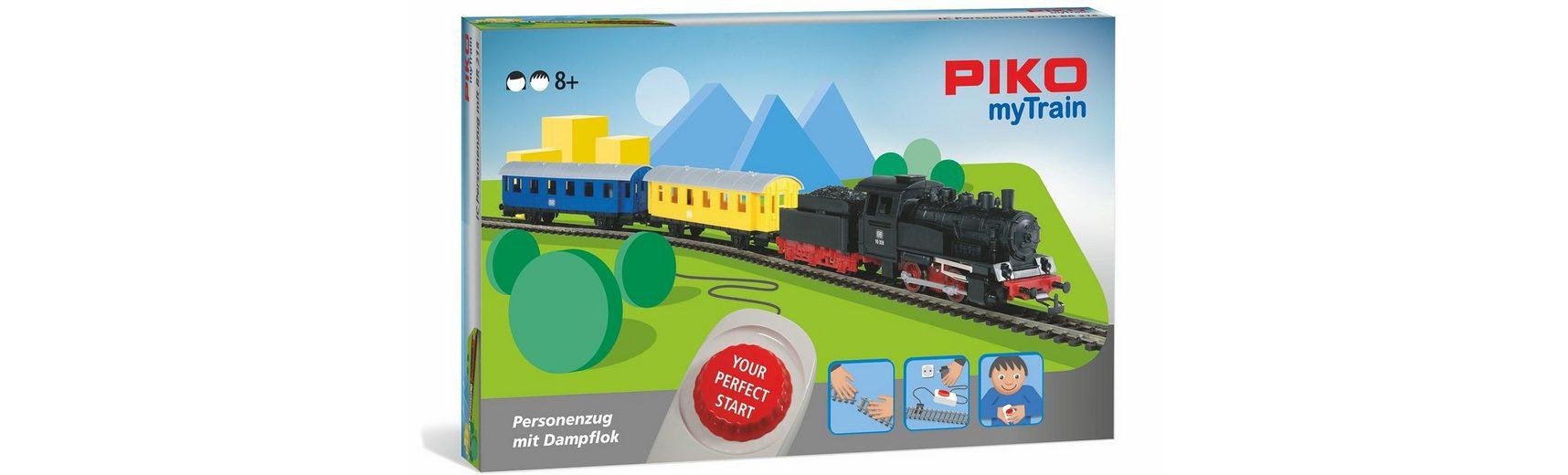PIKO Modelleisenbahn Startset, »PIKO myTrain Set, Personenzug + Dampflok - Gleichstrom« Spur H0