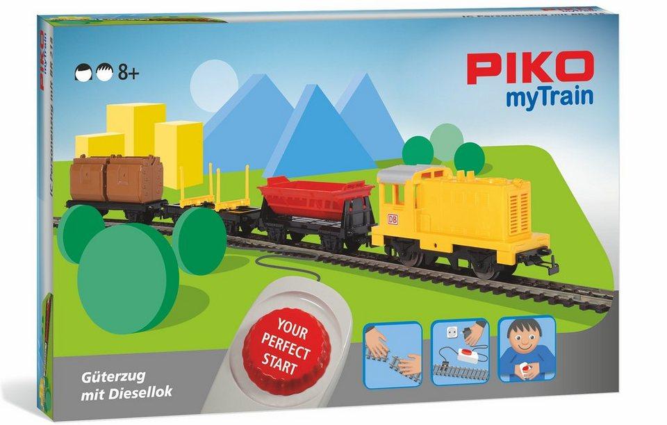 PIKO Modelleisenbahn Startset, »PIKO myTrain Set, Güterzug + Diesellok - Gleichstrom« Spur H0