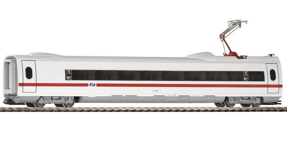 PIKO Personenwagen, »ICE 3 Personenwaggon 2. Kl. mit Stromabnehmer, NS - Gleichstrom« Spur H0 in weiß