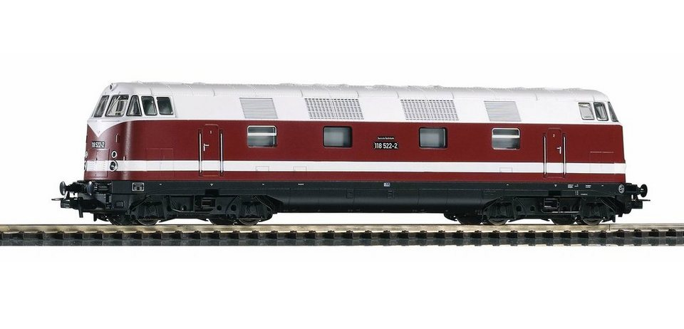 PIKO Diesellok, »Diesellokomotive BR 118, DR - Gleichstrom« Spur H0 in rot