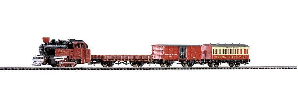 PIKO Modelleisenbahn Startpaket, »Start-Set Western Zug - Gleichstrom« Spur H0
