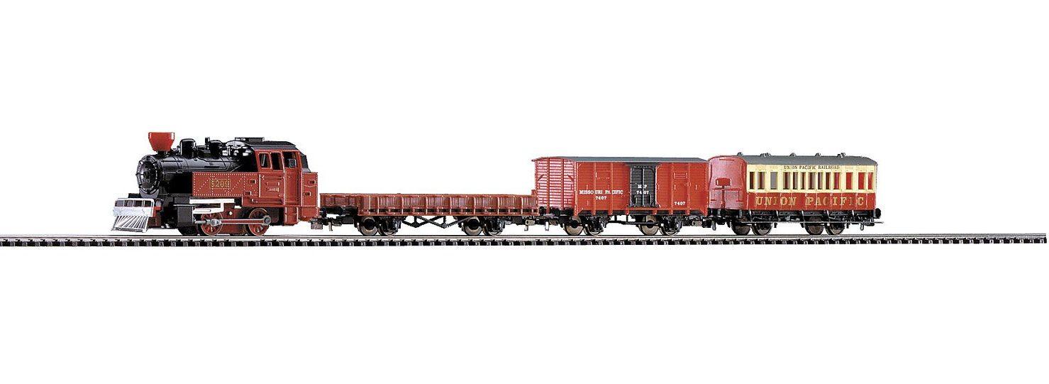 PIKO Modelleisenbahn Startpaket, »Start-Set Western Zug - Gleichstrom« Spur H0 - broschei