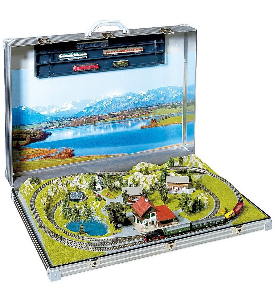 NOCH Modellbahn Kofferset, »Modellbahnkoffer Sonnenalpe mit Fleischmann Piccolo Gleisen« Spur N