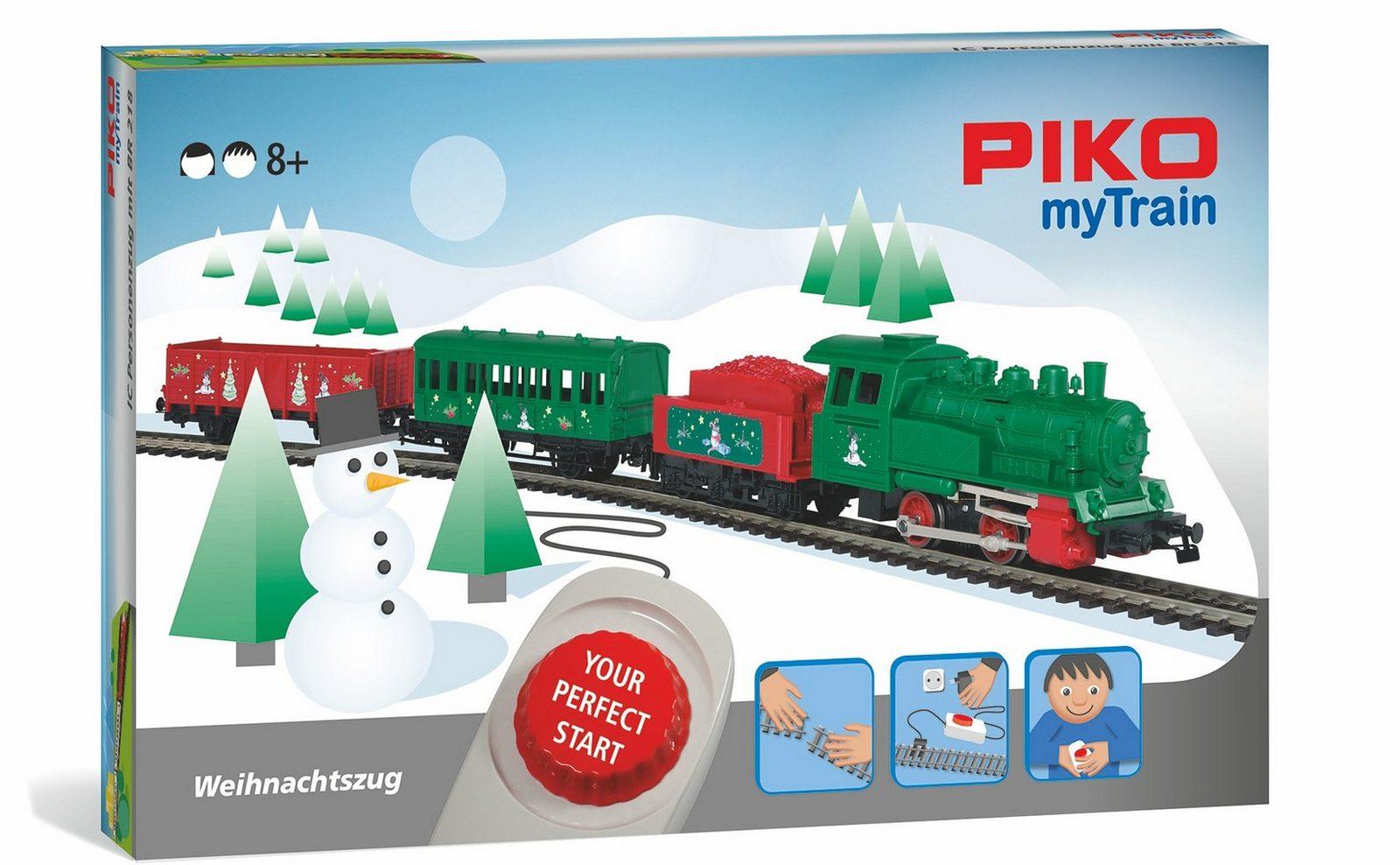 PIKO Modelleisenbahn Startset, »PIKO myTrain, Weihnachten mit Dampflok, DB - Gleichstrom« Spur H0 - broschei