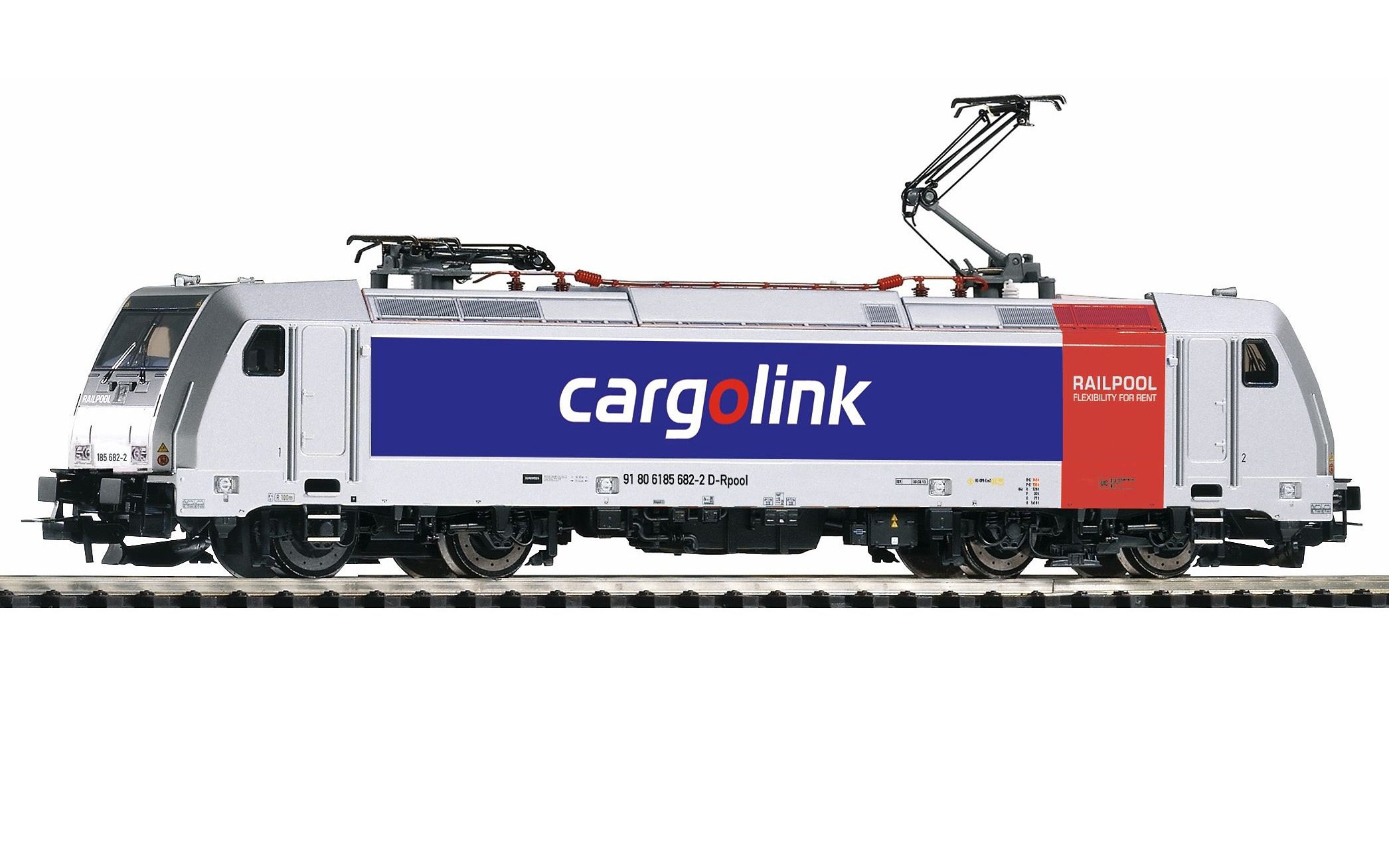 PIKO E-Lok, »Elektrolok BR 185.2 Cargolink - Gleichstrom« Spur H0