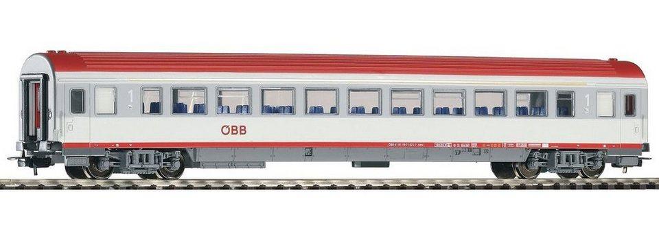 PIKO Personenwagen, »IC Großraumwagen 1. Klasse Bmz, ÖBB - Gleichstrom« Spur H0 in weiß