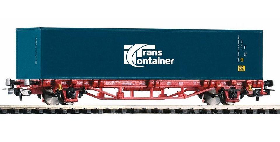 PIKO Güterwagen, »Containerwagen Lgs579 2 Container Transcontainer, DB AG - Gleichstrom« Spur H0 in blau