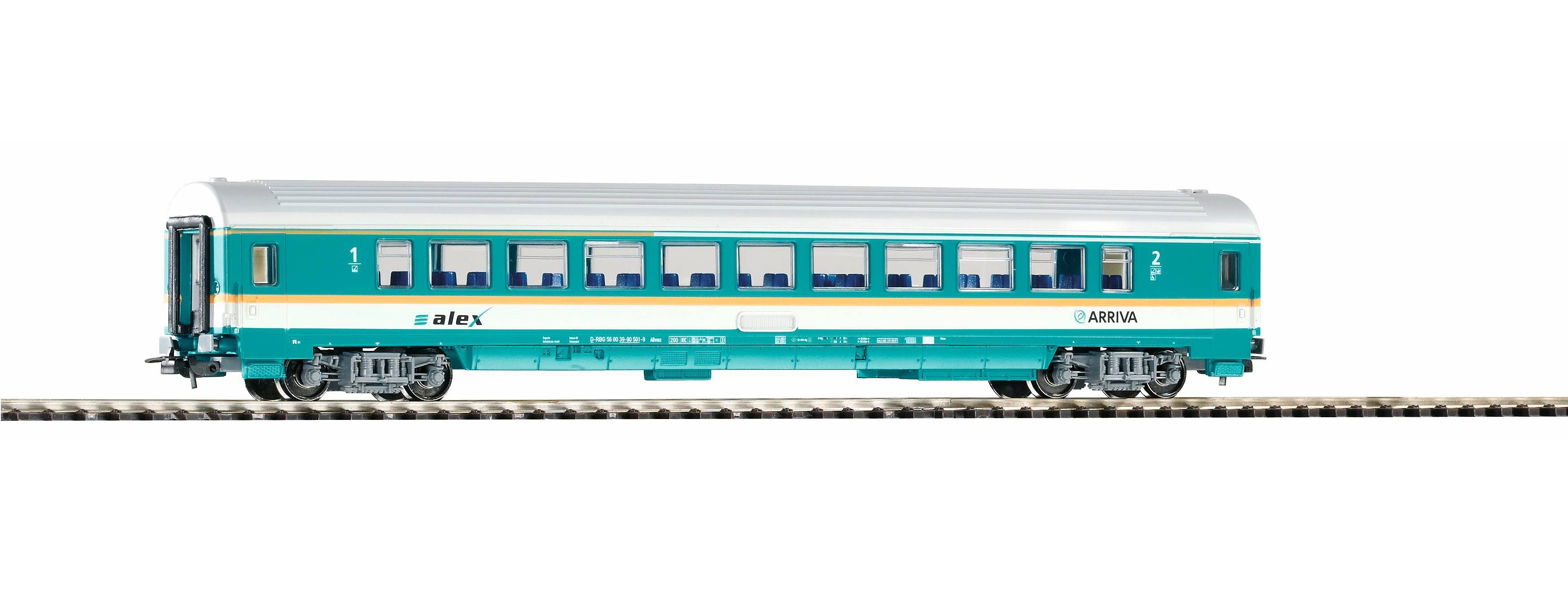 PIKO Personenwagen, »Waggon Arriva 1./2. Klasse - Gleichstrom« Spur H0
