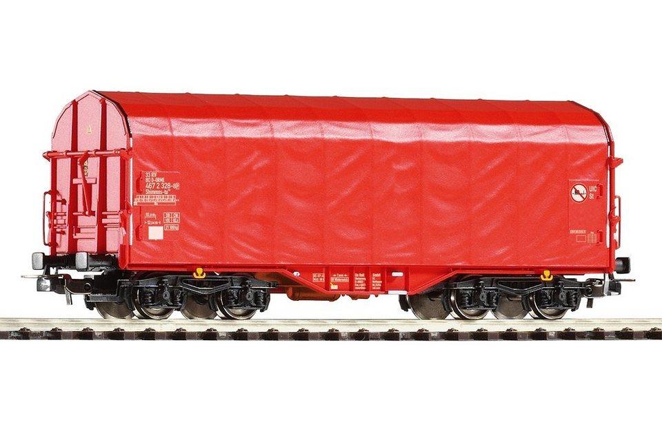 PIKO Güterwagen, »Schiebeplanenwagen Shimmns OnRail - Gleichstrom« Spur H0 in rot