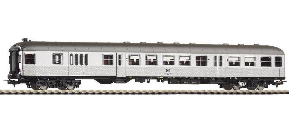 PIKO Personenwagen, »Nahverkehrssteuerwagen 2. Klasse BDn738, DB - Gleichstrom« Spur H0 in silberfarben