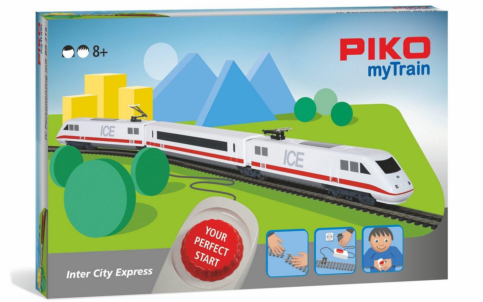 PIKO Modelleisenbahn Startset, »PIKO myTrain, ICE, DB - Gleichstrom« Spur H0 - broschei