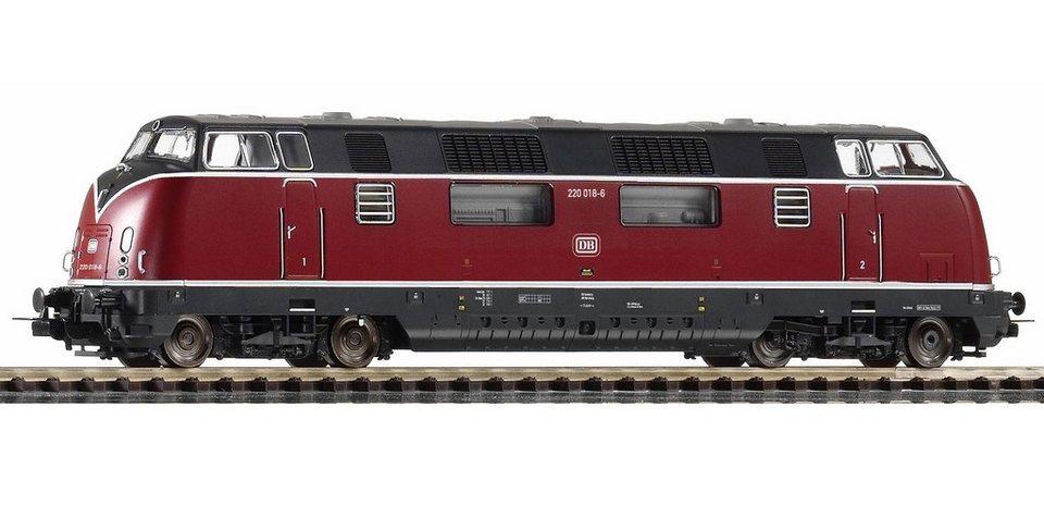 PIKO Diesellok, »Diesellokomotive BR 220.0, DB - Gleichstrom« Spur H0 in rot