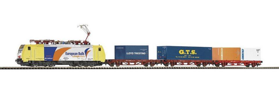 PIKO Modellbahn Startpaket, »Start-Set Containerzug BR 189 + 3 Wagen, FS - Gleichstrom« Spur H0