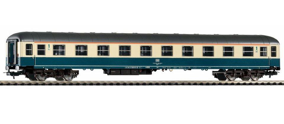PIKO Personenwagen, »Schnellzugwagen 1.Klasse Am202, DB - Gleichstrom« Spur H0 in blau/beige