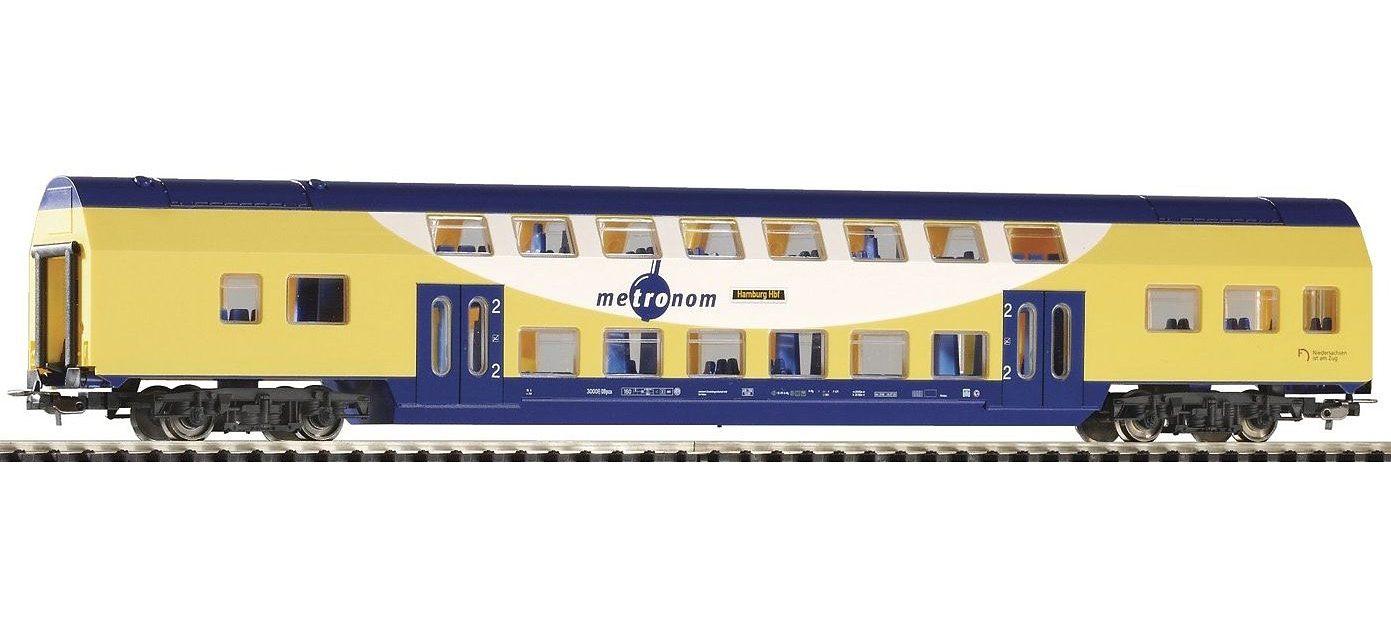 PIKO Personenwagen, »Doppelstock Personenwagen 2. Klasse, Metronom - Gleichstrom« Spur H0
