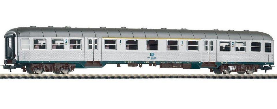 PIKO Personenwagen, »Nahverkehrswagen 1./2. Klasse ABnrzb704, DB - Gleichstrom« Spur H0 in silberfarben
