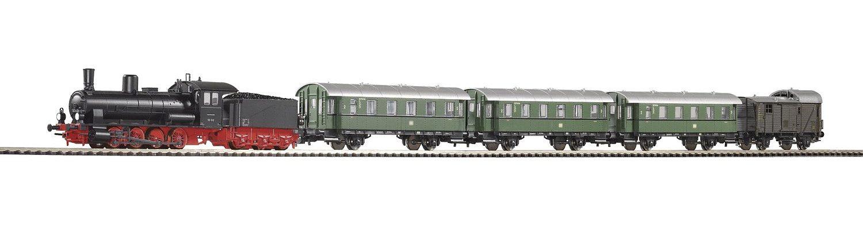 PIKO Modelleisenbahn Startpaket, »Start-Set Dampflok G7.1 + 4 Wagen - Gleichstrom« Spur H0