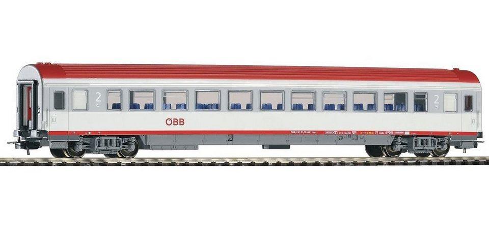 PIKO Personenwagen, »IC Großraumwagen 2. Klasse Bmz, ÖBB - Gleichstrom« Spur H0 in weiß