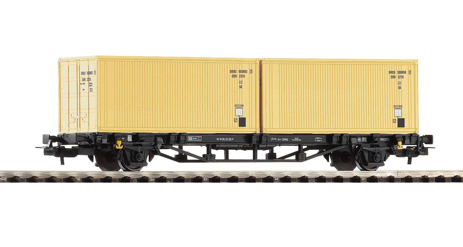PIKO Güterwagen, »Containerwagen Lgs579 DR-Container - Gleichstrom« Spur H0