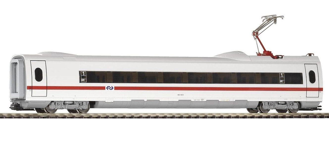PIKO Personenwagen, »ICE 3 Personenwaggon 1.Kl. mit Stromabnehmer, NS - Gleichstrom« Spur H0 - broschei