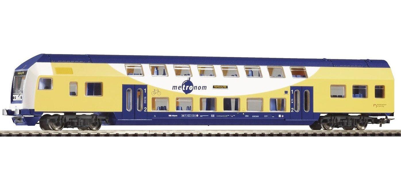 PIKO Personenwagen, »Doppelstock Steuerwagen 1./2. Klasse, Metronom - Gleichstrom« Spur H0 - broschei