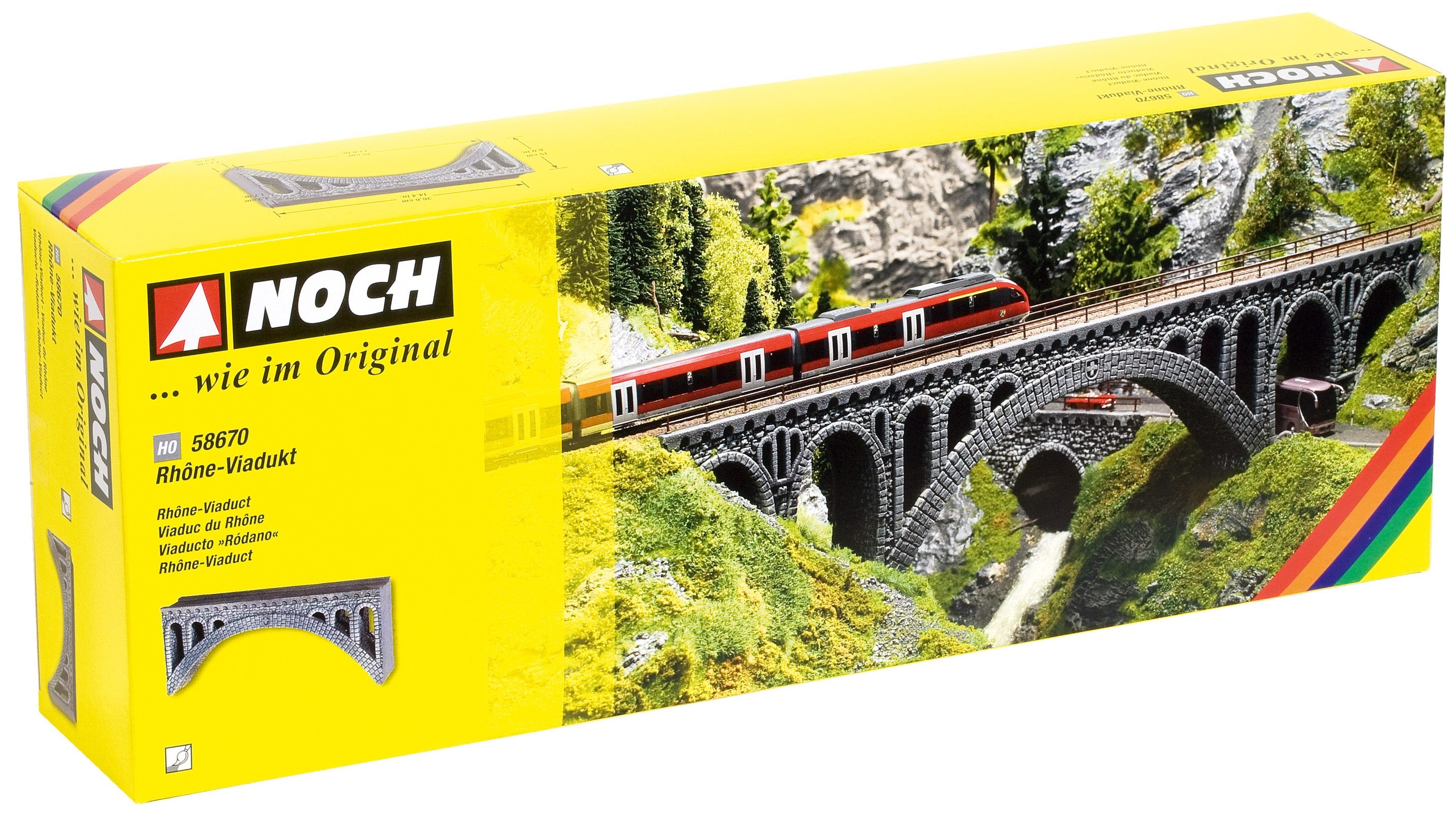 NOCH Modelleisenbahn-Zubehör, »Rhone-Viadukt« Spur H0